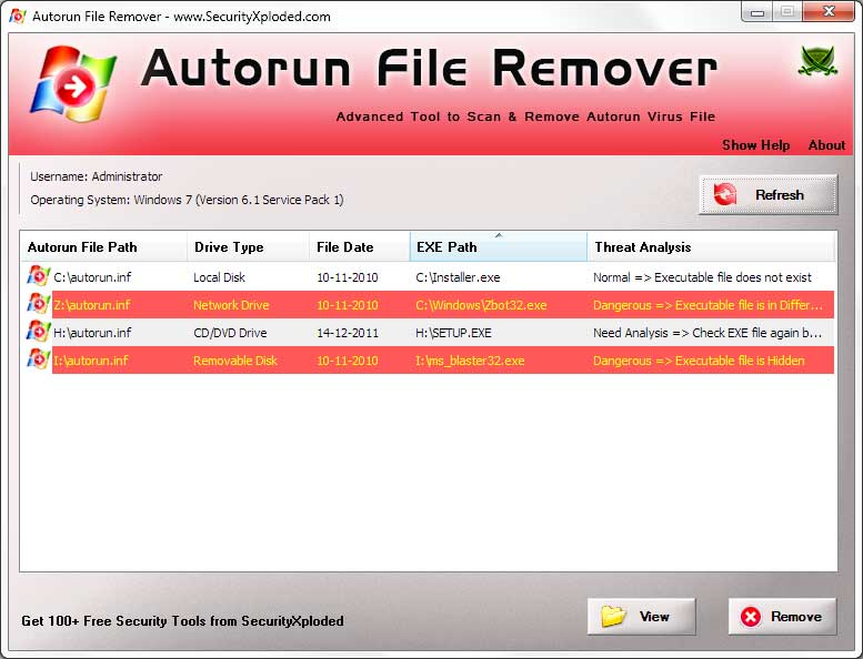Autorun File Remover Screen shot