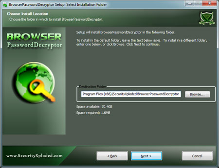 BrowserPasswordDecryptor Installer