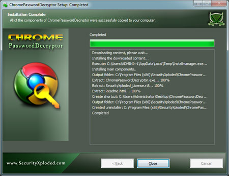 ChromePasswordDecryptor Installer