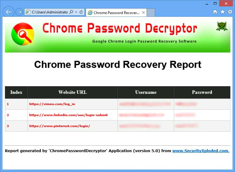 Google Chrome Password Recovery Free Download for Windows ...