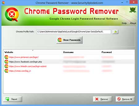 FirepasswordViewer showing the sign-on information
