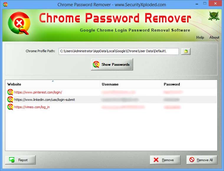 Chrome Password Remover : Free Google Chrome Website Login