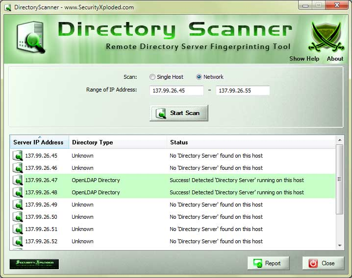 Directory Scanner Screen shot
