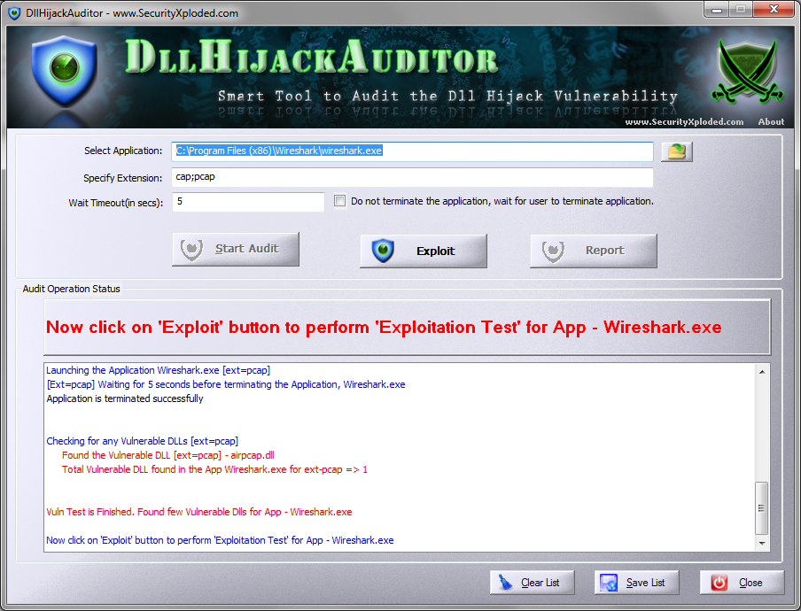 Dll Hijack Auditor screenshot