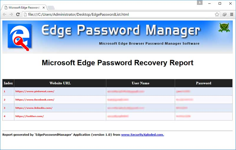 Edge Password Manager : free tool to help you recover or