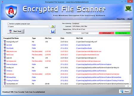 Encrypted File Scanner full screenshot
