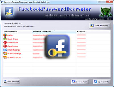 Facebook Password Decryptor 6.0