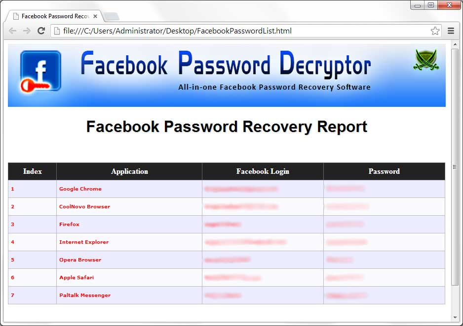 Free facebook username and password