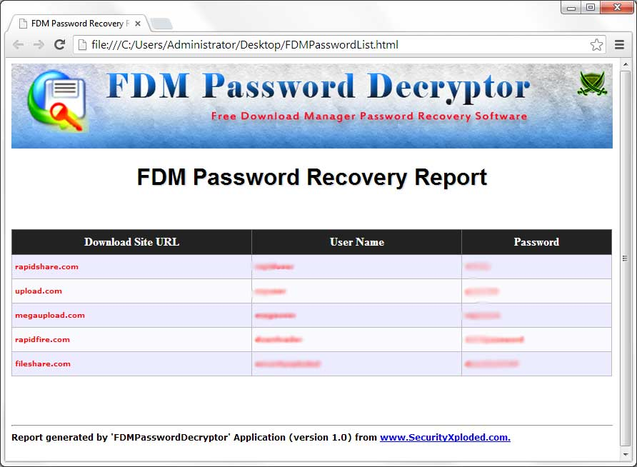 Password txt file free download