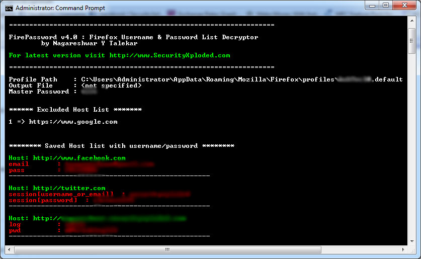 Click to view FirePassword screenshots