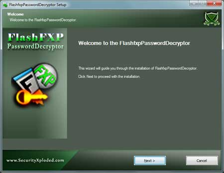 FlashfxpPasswordDecryptor Installer