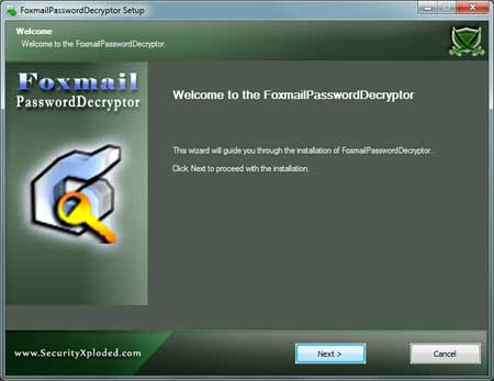 FoxmailPasswordDecryptor Installer