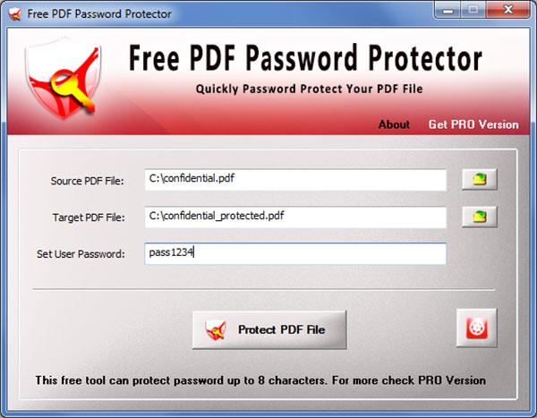 Free PDF Password Protector