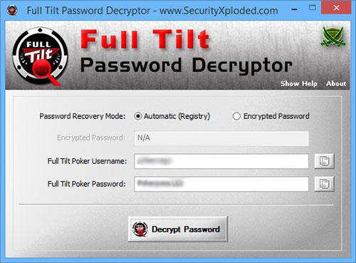 Full Tilt Password Decryptor 1.5 full