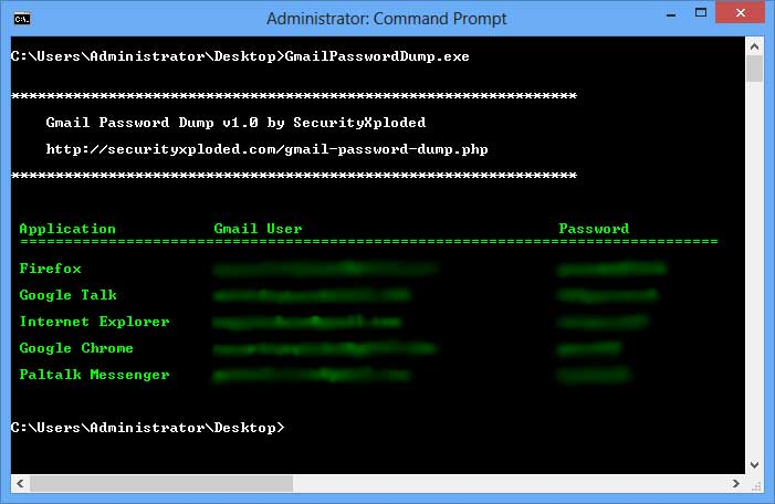 Command-line Gmail Password Recovery Tool