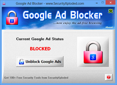 Ad Blocker for Google Screen shot