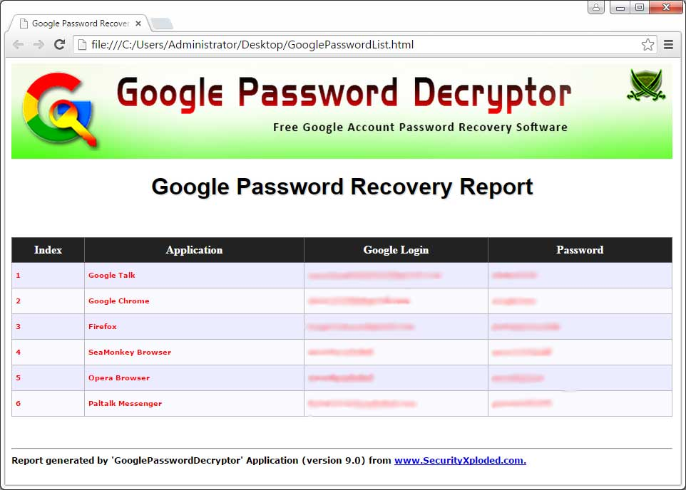 gmail password history