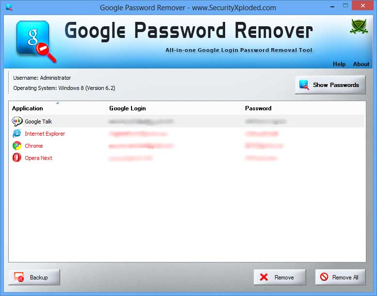 Password Remover for Google