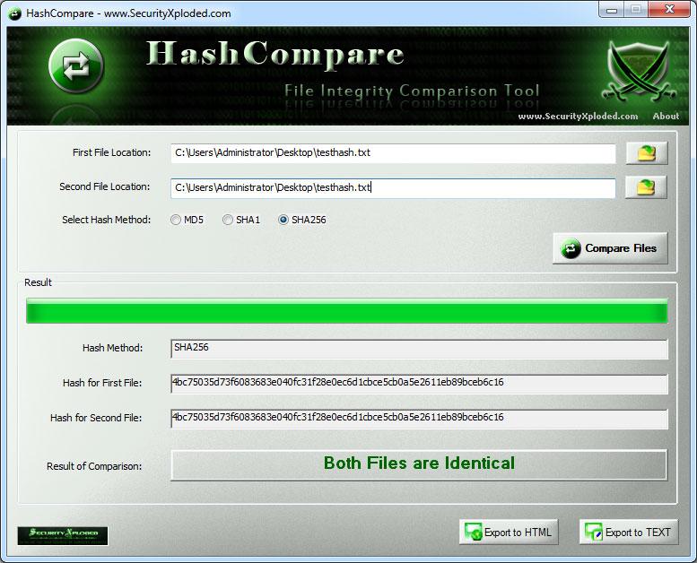 Windows 7 Hash Compare 3.0 full