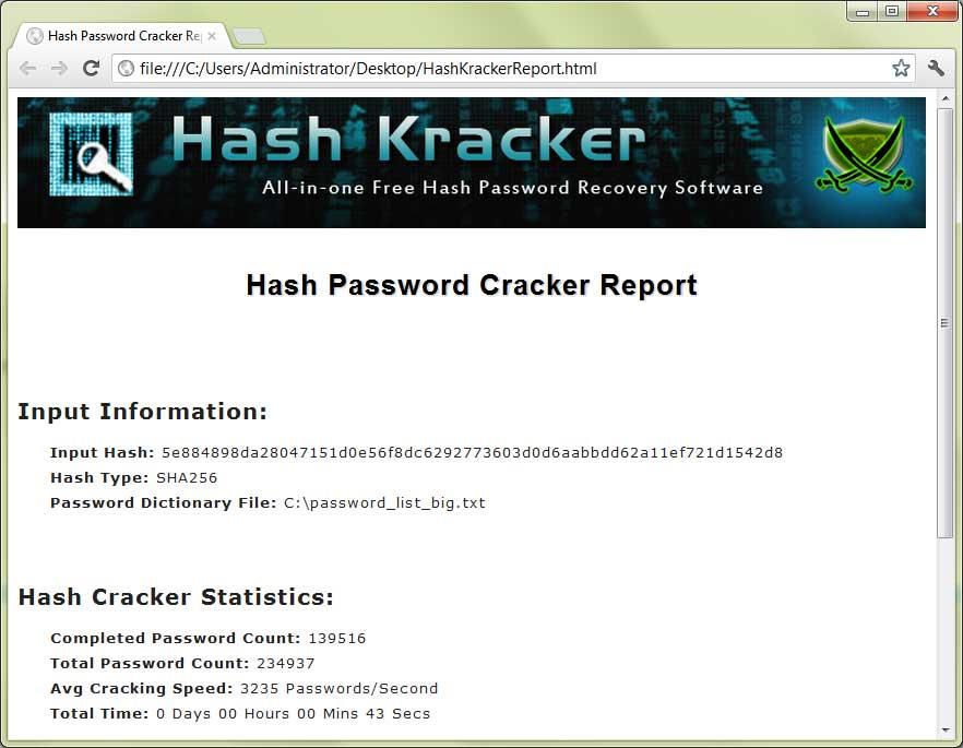 Новости Украины сегодня. Hash Kracker - программа для взлома хэша паролей.