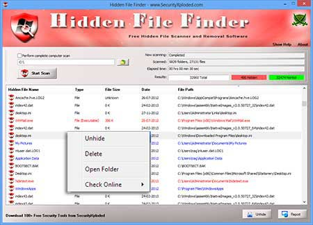 HiddenFileFinder Scanning for Hidden Streams