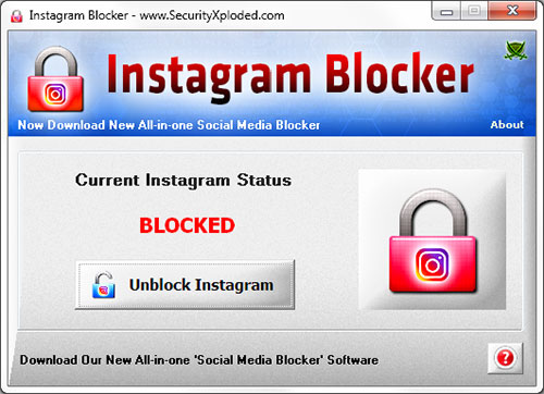 InstagramBlocker Screenshot