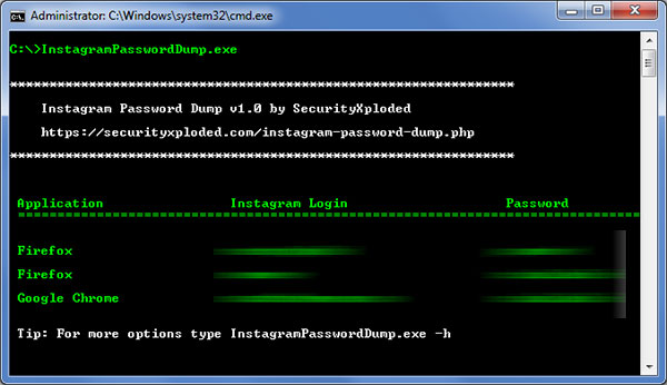 Windows 7 Password Dump for Instagram 1.5 full