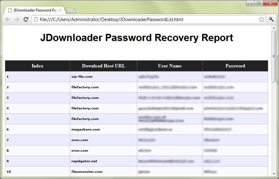 JDownloader Password Decryptor : Free Tool to Recover Lost