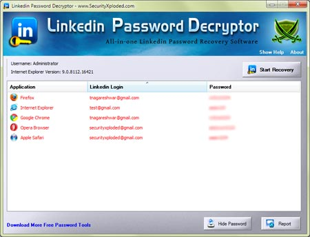 Released New Tool – Linkedin Password Decryptor