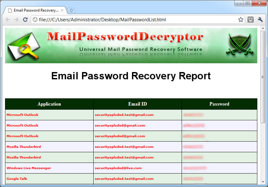 Exported Mail Password Accounts