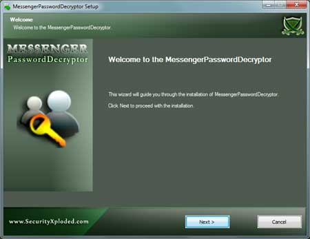MessengerPasswordDecryptor Installer