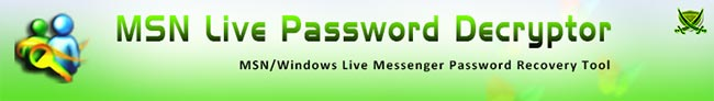 MSNLivePasswordDecryptor