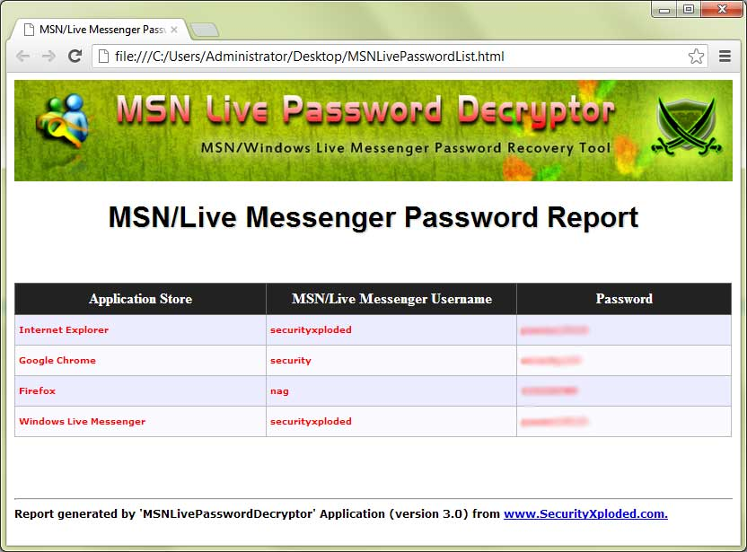 wlm msn password finder