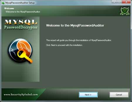 MysqlPasswordAuditor  Installer