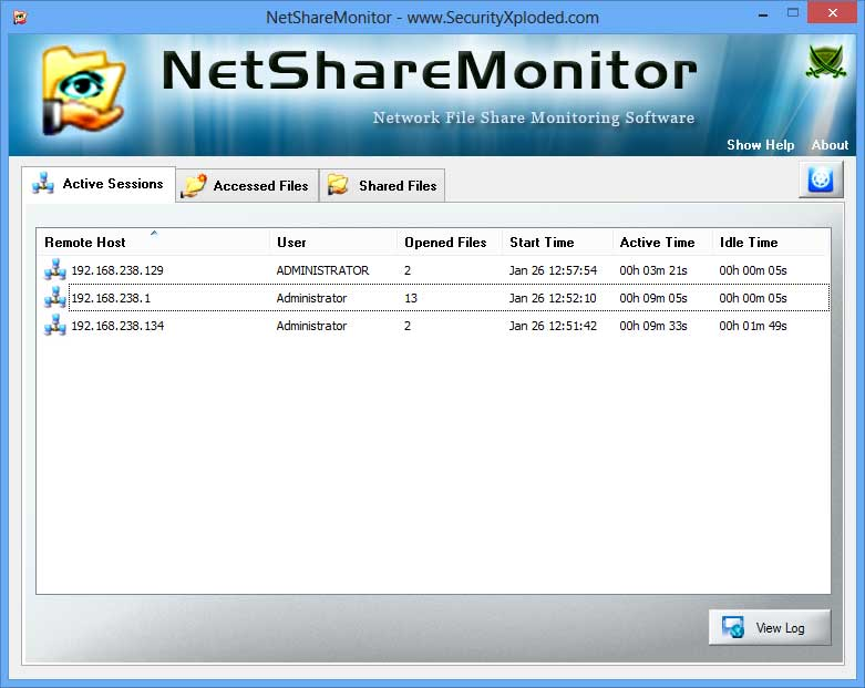 NetShareMonitor Screen shot