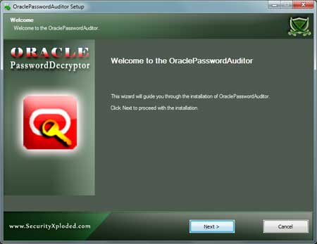 OraclePasswordAuditor  Installer