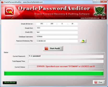 OraclePasswordAuditor
