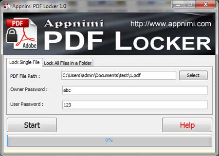 PDFLocker showing recovered PDF Password