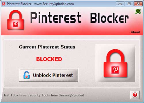 Block Pinterest Screenshot