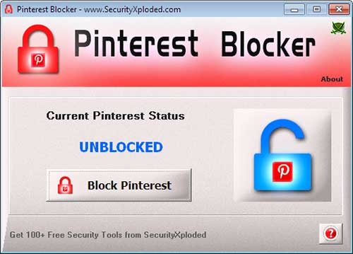PinterestBlocker Screenshot