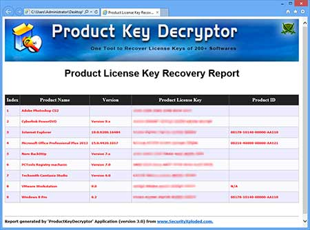 ProductKeyDecryptor