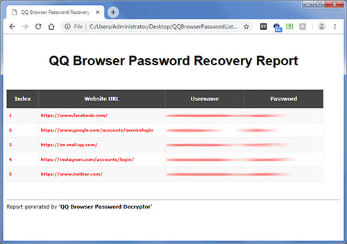 QQ Browser Password Decryptor : Free Tool to Recover Lost