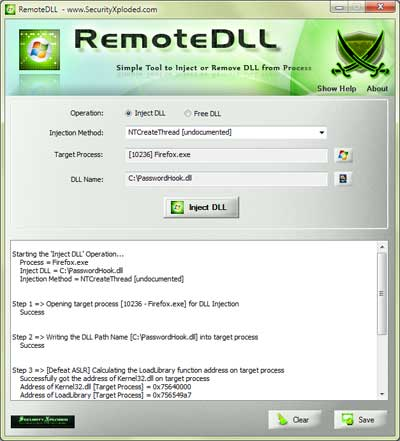 Released RemoteDLL v2 – Simple Tool to Inject or Remove DLL from Remote Process