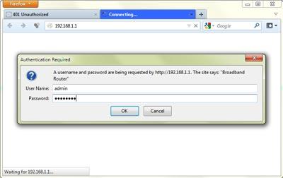 Acceso al router con usuario