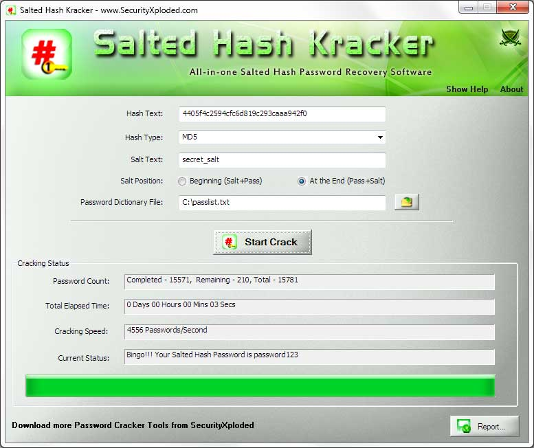 Salted Hash Kracker Screen shot