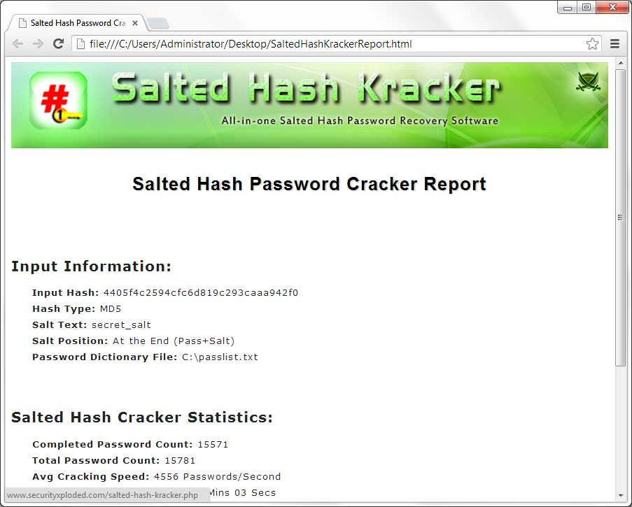 Salted Hash Kracker : All-in-one Free Tool to Recover Password from