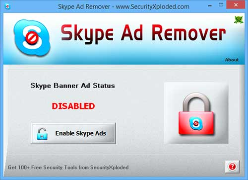 SkypeAdRemover Screenshot