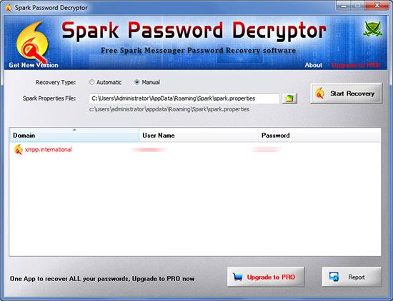Windows 7 Spark Password Decryptor 2.0 full