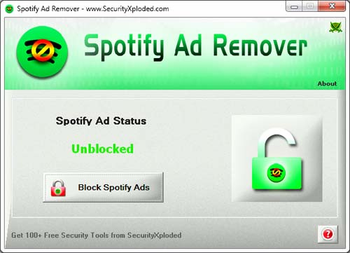 SpotifyAdRemover Screenshot