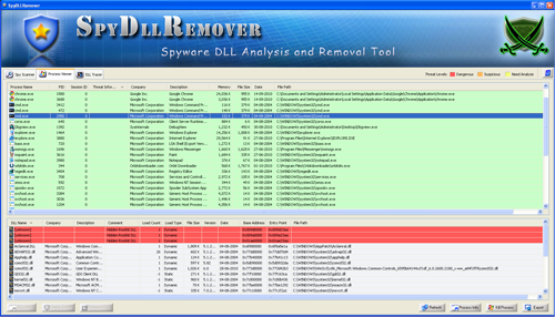 SpyDllRemover showing the new Scan Settings